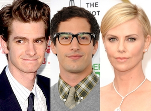 Charlize Theron, Andy Samberg, Andrew Gardield