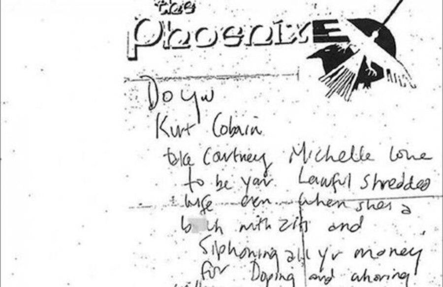 Kurt Cobain Note