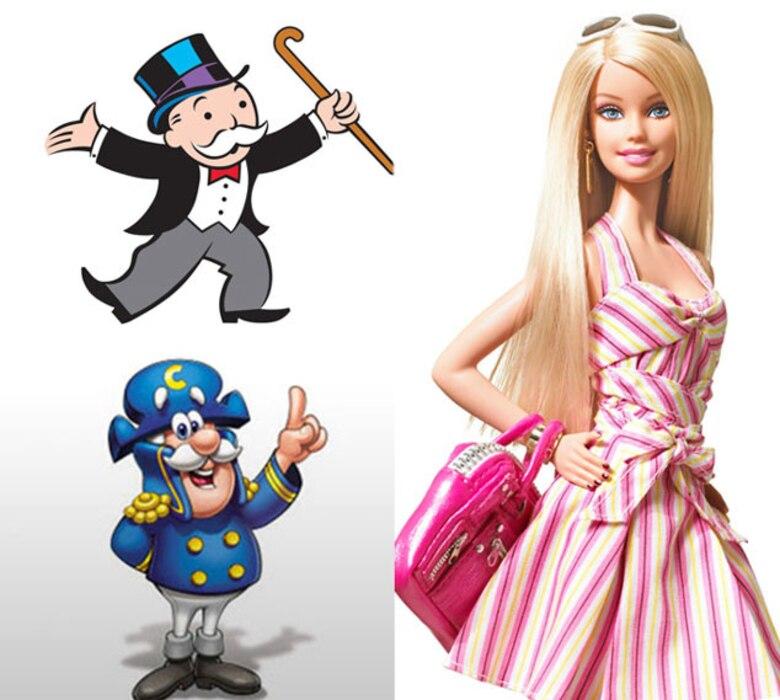 Barbie, Cap'n Crunch, Mr. Monopoly Man