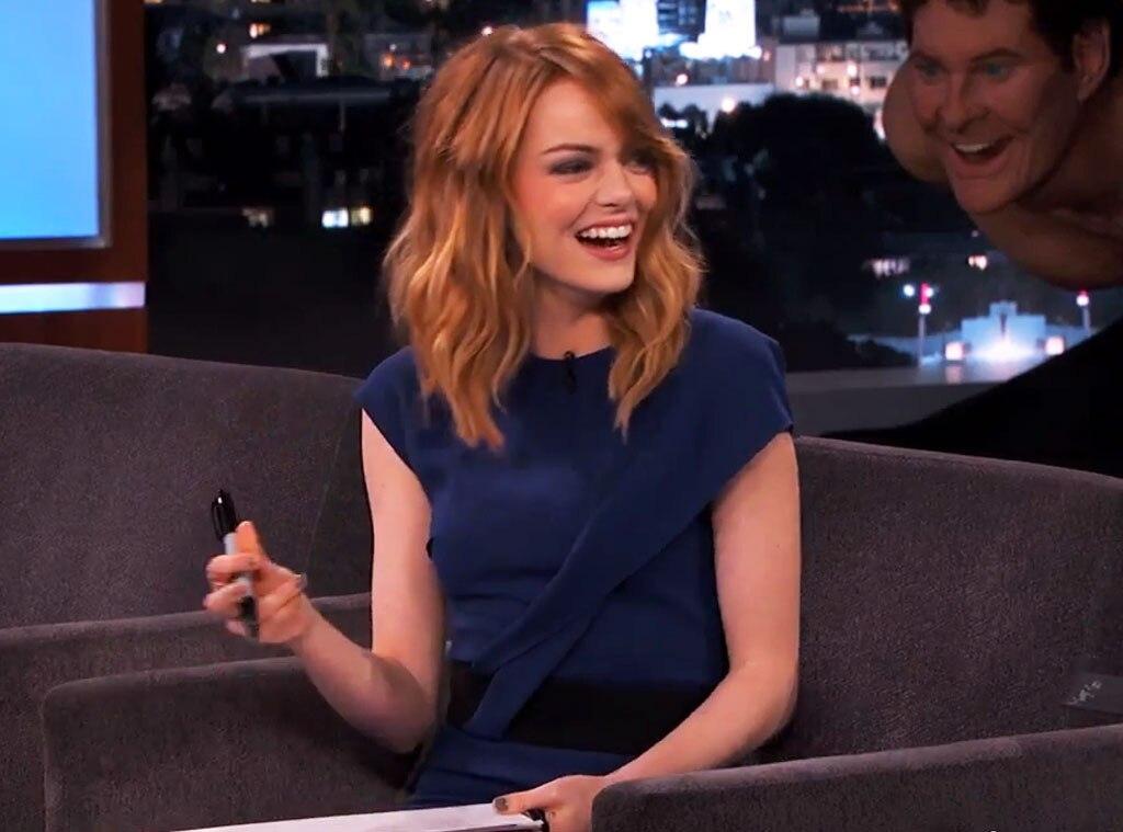 Emma Stone, Jimmy Kimmel Live