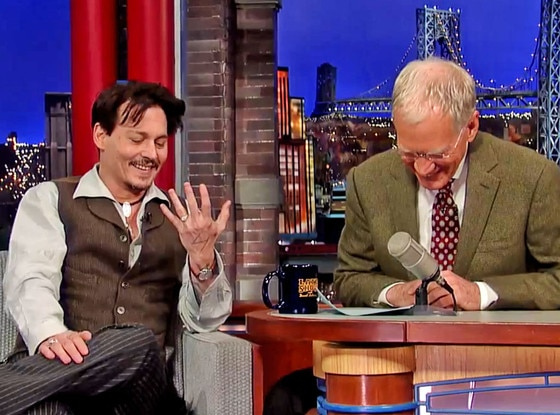 Johnny Depp, David Letterman, Ring