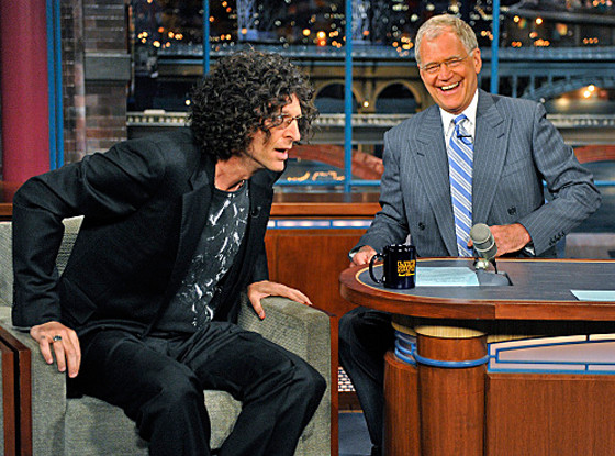 Howard Stern, David Letterman, Late Show