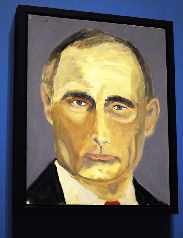 George W. Bush, Vladimir Putin, Painting