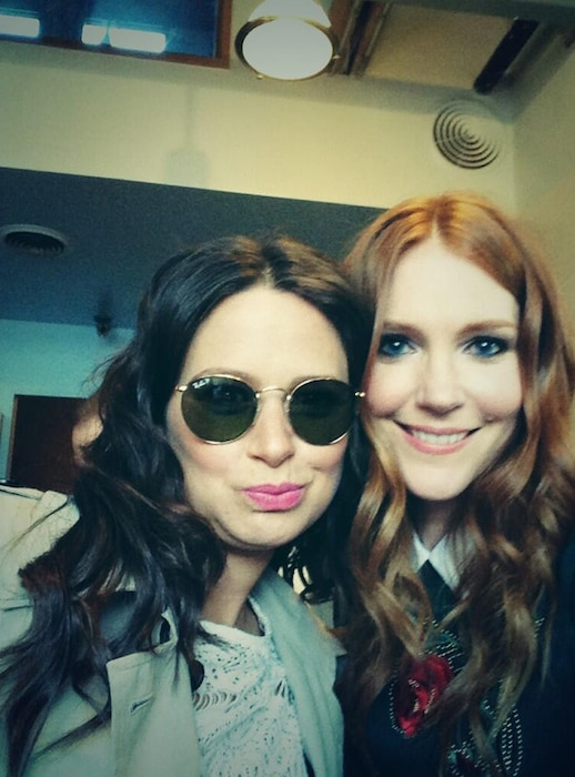 Katie Lowes, Darby Stanchfield Twitter