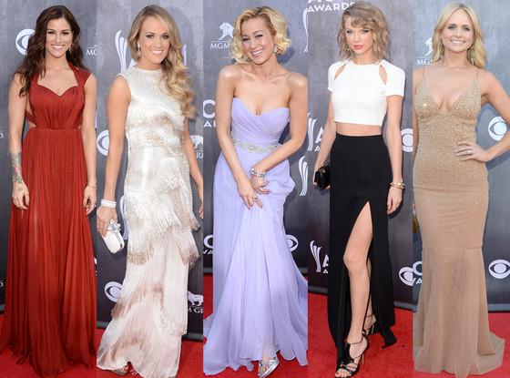 Miranda Lambert, Kellie Pickler, Cassadee Pope, Carrie Underwood, Taylor Swift, ACM Awards 2014
