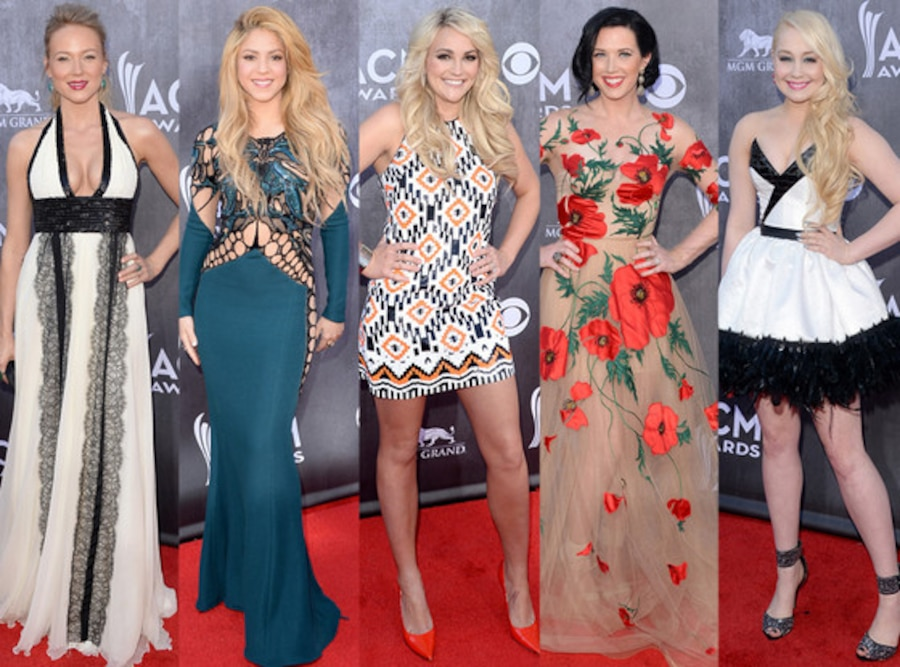 Shawna Thompson, Jewel, Jamie Lynn, Shakira, Raelynn, ACM Awards 2014