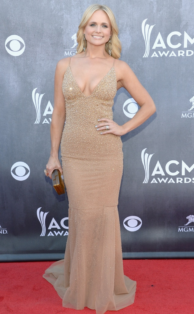 miranda lambert flaunts slim figure cleavage in sexy nude dress at 2014 acm awards e news. Black Bedroom Furniture Sets. Home Design Ideas