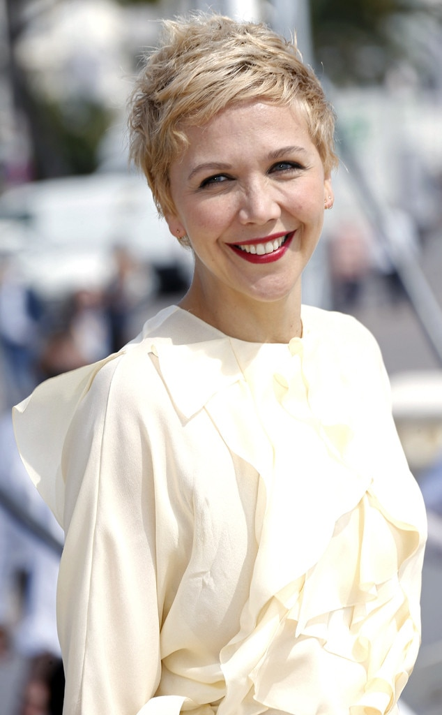 Maggie Gyllenhaal Debuts Platinum Blond Hair—See the Pic! | E! News Maggie Gyllenhaal