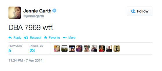 Jennie Garth Twitter