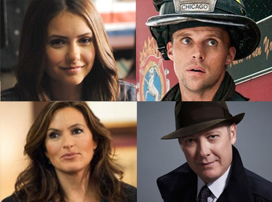 Jesse Spencer, Chicago Fire, Nina Dobrev,The Vampire Diaries, James Spader, The Blacklist, Mariska Hargitay, SVU