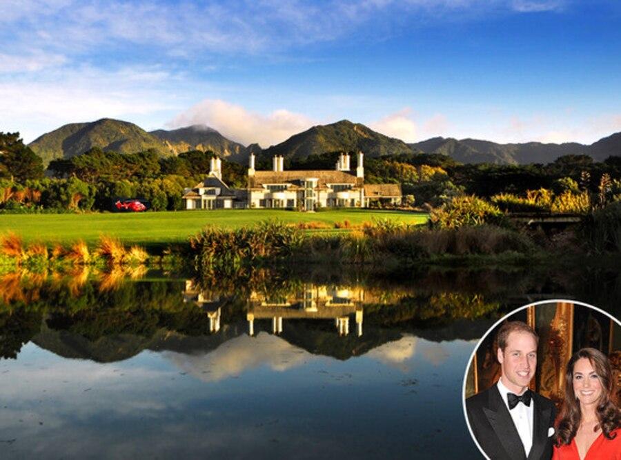 Wharekauhau Lodge, New Zealand, Prince William, Kate Middleton