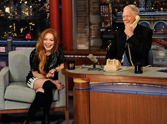 David Letterman, Lindsay Lohan
