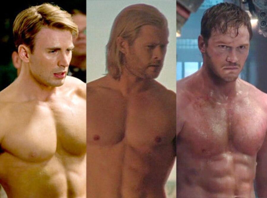 Captain America: The First Avenger, Chris Pratt, Guardians of the Galaxy, Thor, Chris Hemsworth