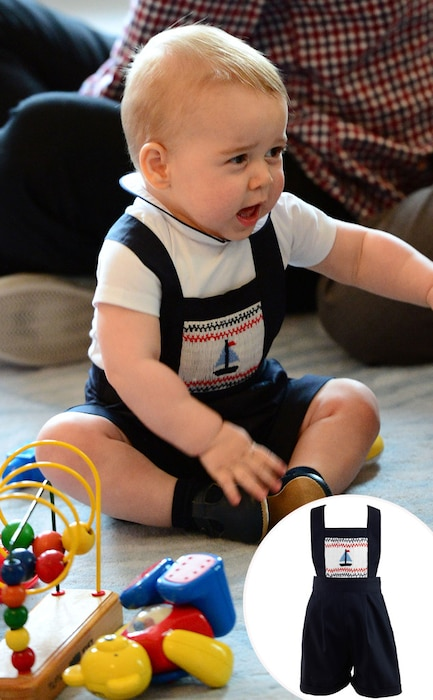 Prince George of Cambridge, Sailboat Smocked Dungarees