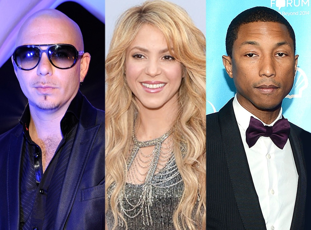 Pharrell, Shakira, Pitbull