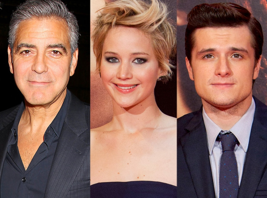 George Clooney, Jennifer Lawrence, Josh Hutcherson