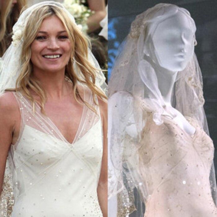 Gwen stefanis and kate moss wedding dresses are on display at a gwen stefanis and kate moss wedding dresses are on display at a london exhibitsee the pics e news junglespirit Gallery