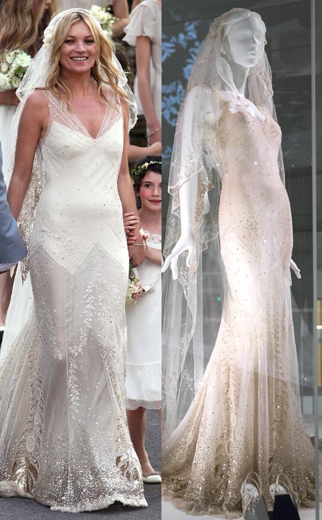 Gwen stefanis and kate moss wedding dresses are on display at a kate moss wedding dress v ampamp a museum junglespirit Choice Image