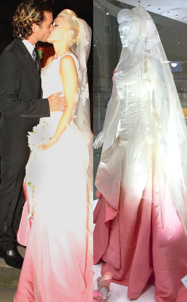 Gwen stefanis and kate moss wedding dresses are on display at a gwen stefani wedding dress v ampamp a museum junglespirit Gallery