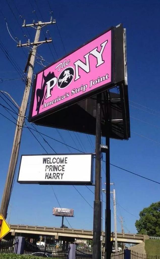 Prince Harry, The Pony Memphis Strip Club