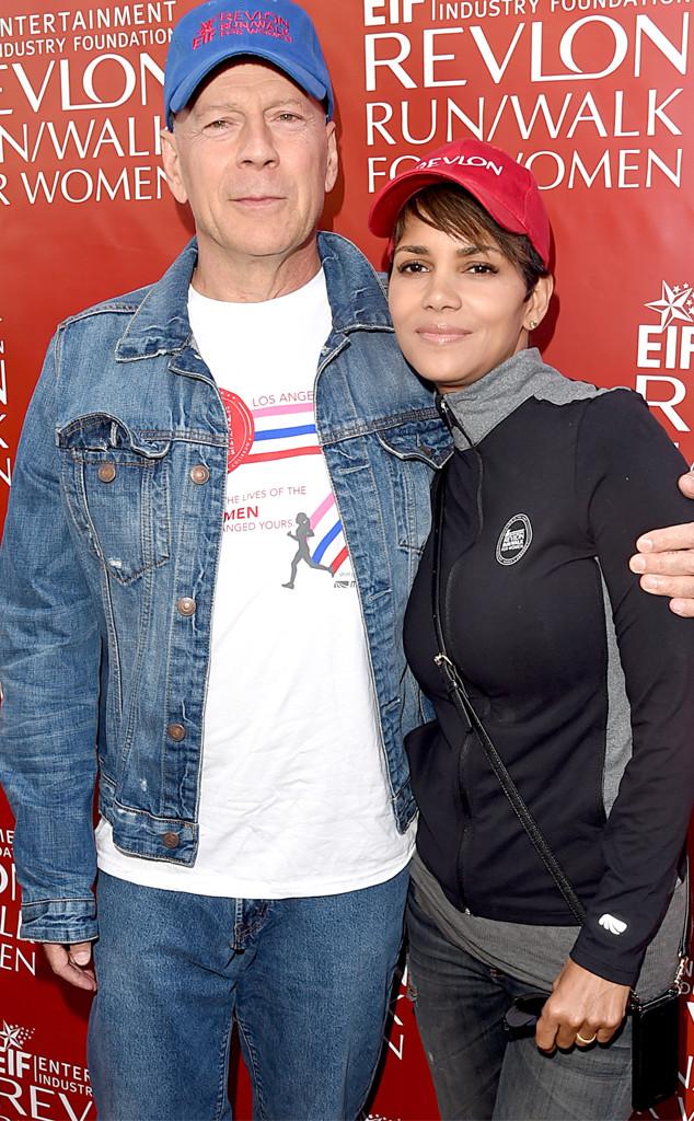 Former Co-Stars Halle Berry and Bruce Willis Reunite at Revlon Run Walk