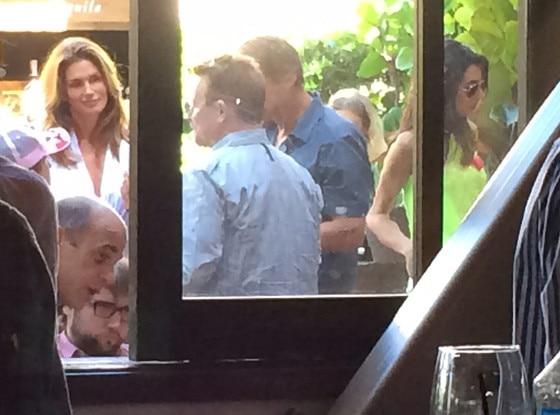 George Clooney, Amal Alamuddin,  Cindy Crawford