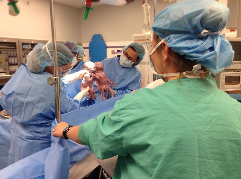 Newborn Twins, Holding Hands