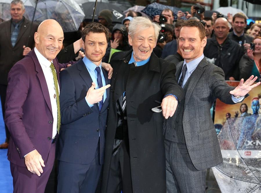 Patrick Stewart, James McAvoy, Sir Ian McKellen, Michael Fassbender, X-Men