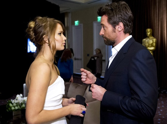 Jennifer Lawrence, Hugh Jackman