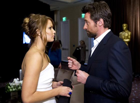 Jennifer Lawrence, Hugh Jackman