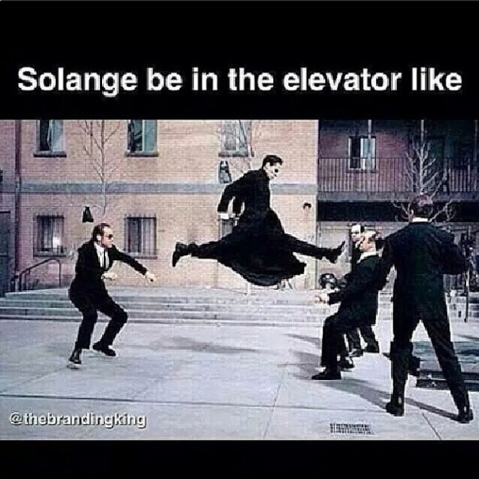 Jay-Z, Solange Knowles, Memes