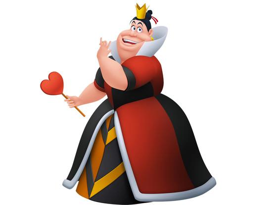 Disney Villains, The Queen of Hearts, Alice in Wonderland