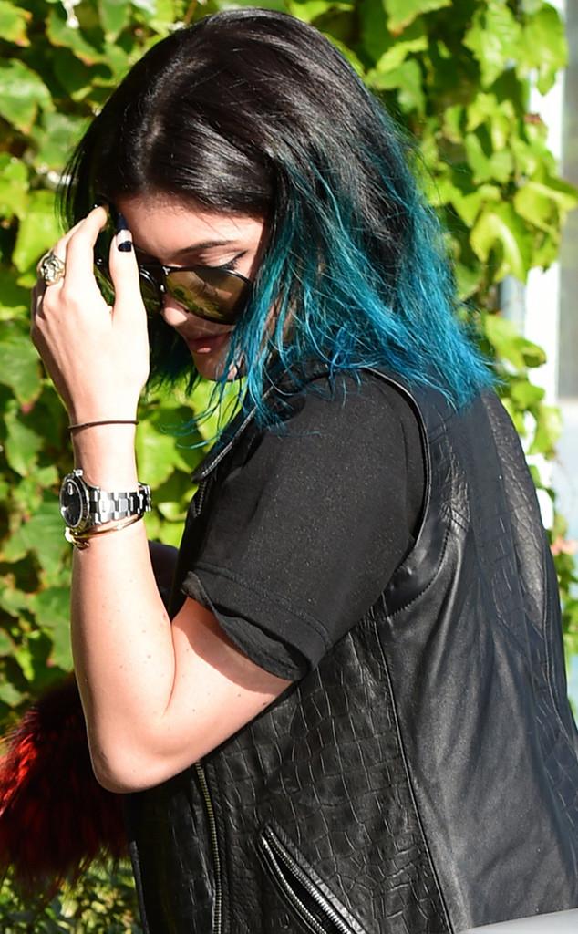 Kylie Jenner, Blue Hair