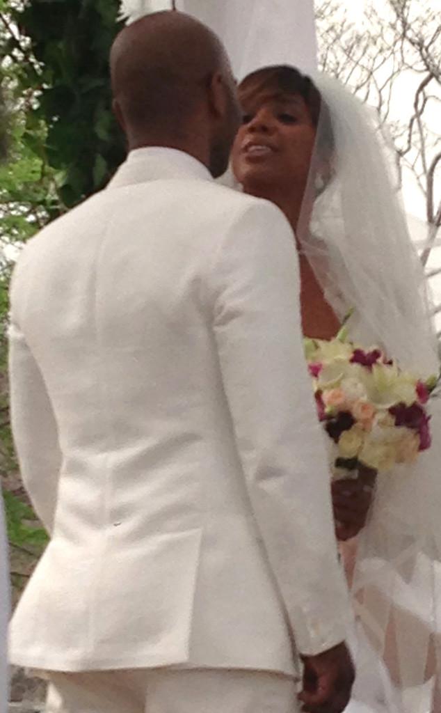 Kelly Rowland, Tim Witherspoon, Wedding
