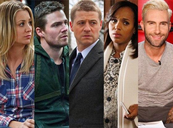 Gotham, Big Bang Theory, Arrow, Scandal, The Voice