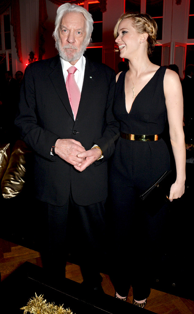 Jennifer Lawrence, Donald Sutherland, Cannes