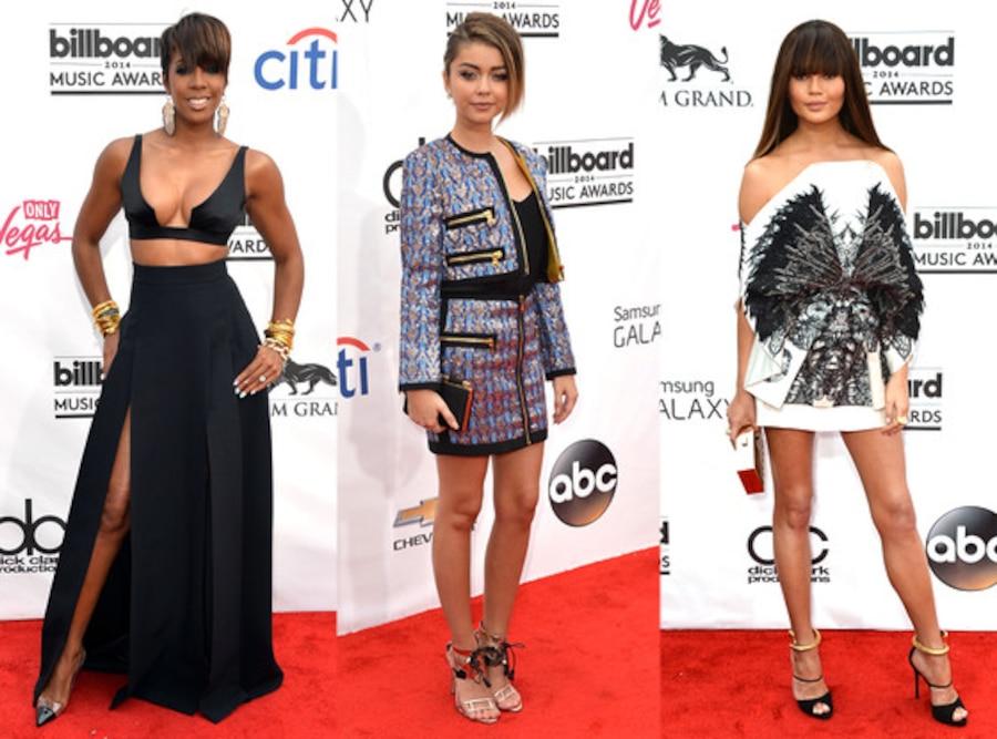 Kelly Rowland, Chrissy Teigen, Sarah Hyland, Worst Dressed