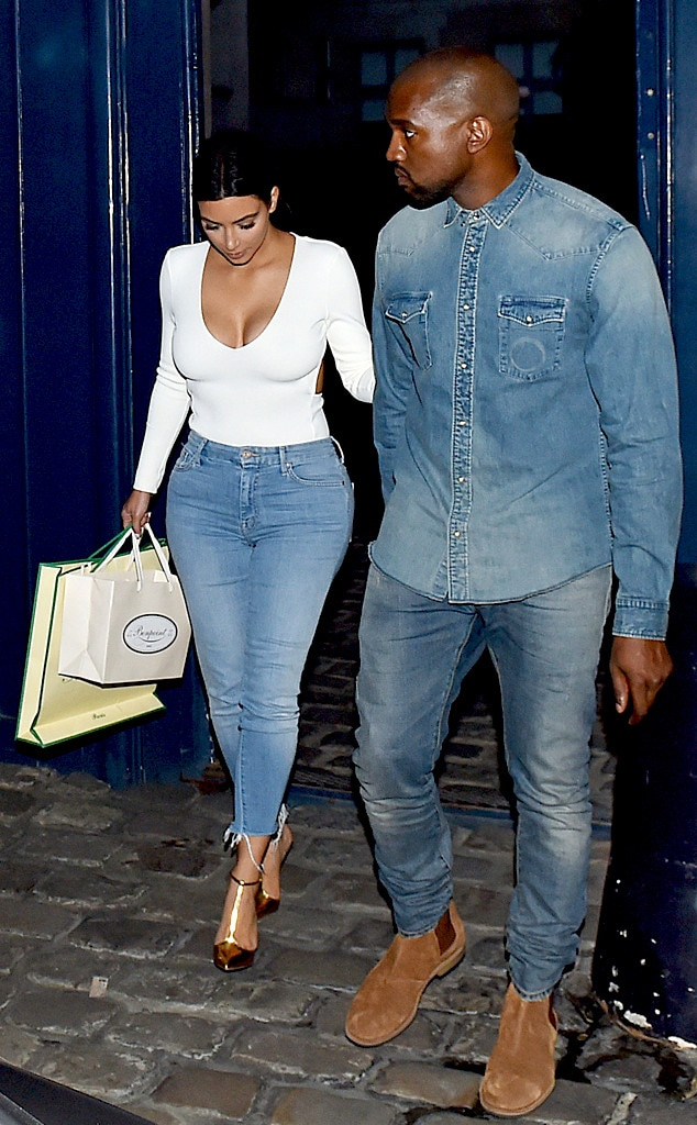 Kim Kardashian And Kanye West Enjoy Night Out In Paris