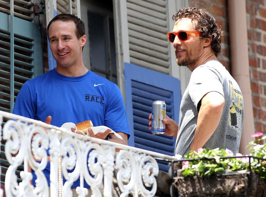 Matthew McConaughey, Drew Brees