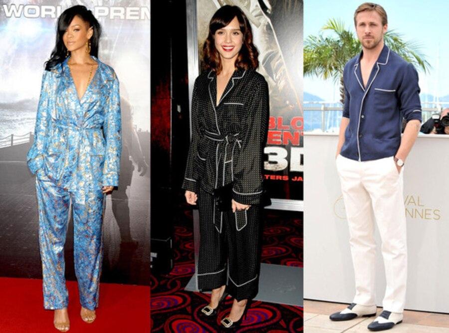 Rihanna, Ryan Gosling, Jessica Alba, Pajamas