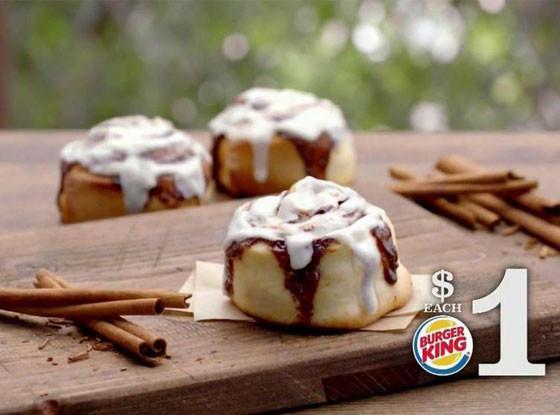 Burger King cinnamon roll
