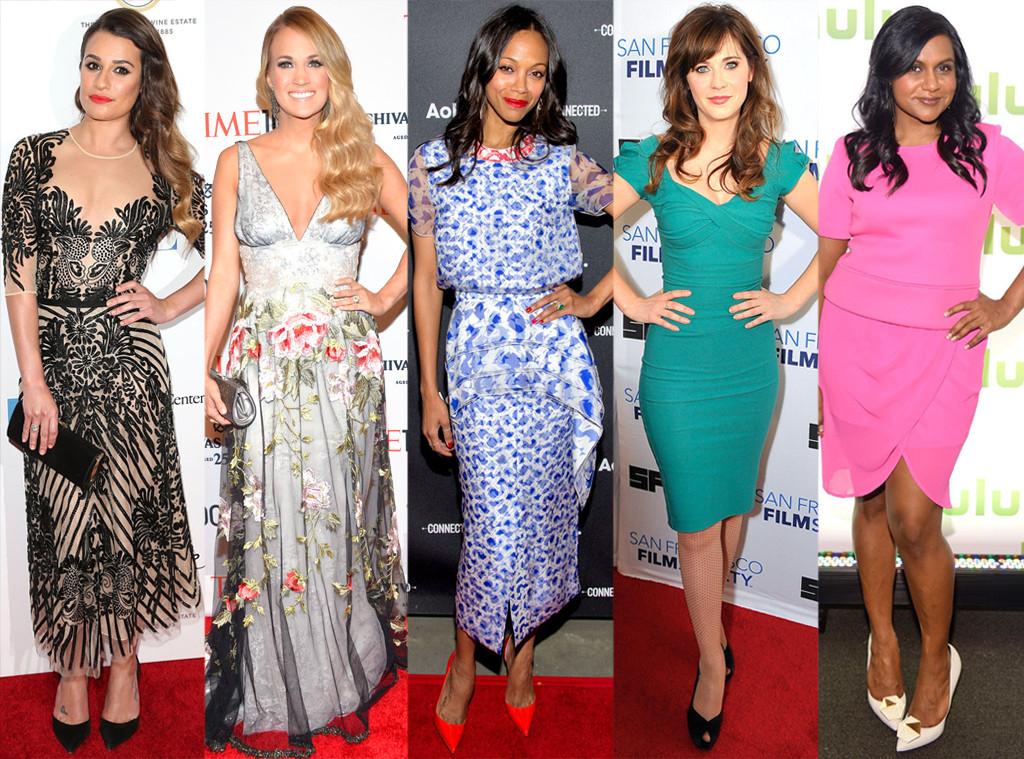 Best of the Week, Lea Michele, Carrie Underwood, Zoe Saldana, Zooey Deschanel, Mindy Kaling