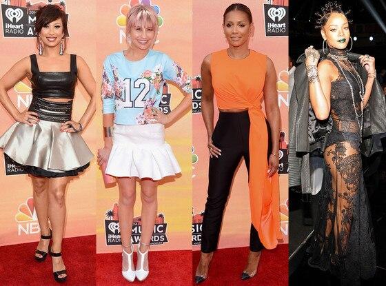 Cheryl Burke, Chelsea Kane, Mel B, Rihanna, Worst Dressed, iHeartRadio Awards