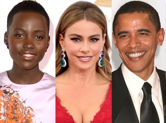 Lupita Nyong'o, Sofia Vergara, Barack Obama