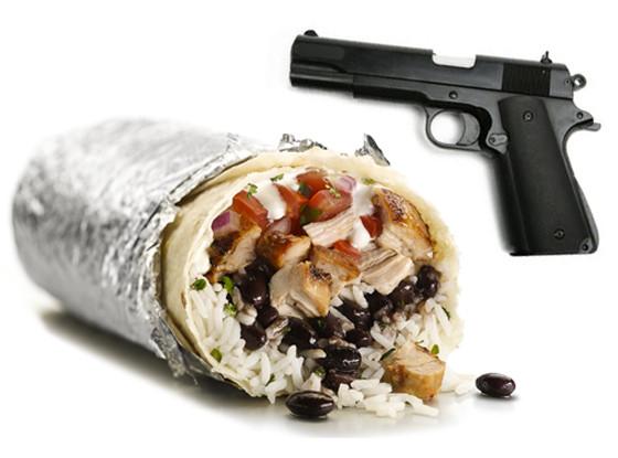 Chipotle Burrito, Gun
