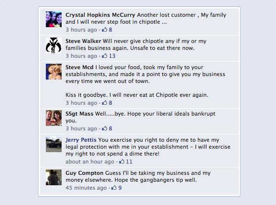 Chipotle, Facebook