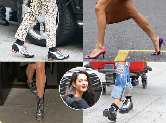 Amal Alamuddin, Shoes