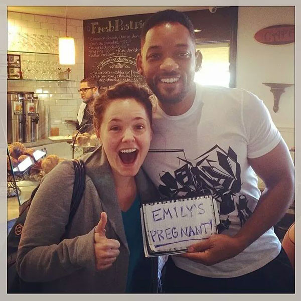 Will Smith, Emily Pregnant Fan