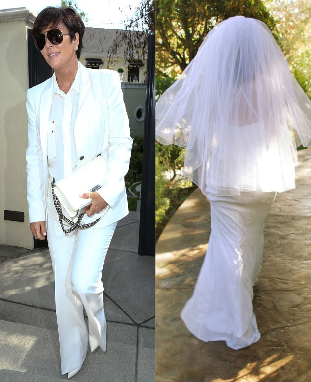 Kimyes Something Borrowed, Kris Jenner, Bride