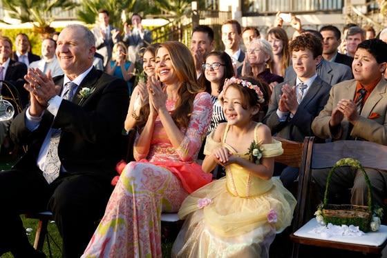 Mmodern Family, Ed O'Neill, Sofia Vergara, Aubrey Anderson-Emmons
